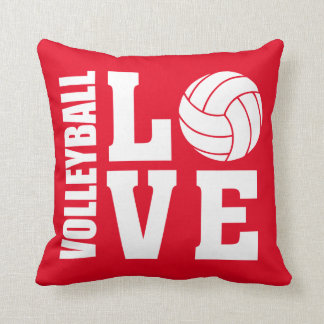 Coussin Rouge d'amour de volleyball