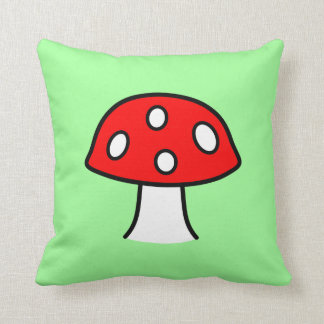 Coussin rouge de champignon