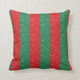 Coussin rouge et vert
