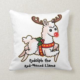 Coussin Rudolph le lama au nez rouge
