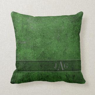 Coussin rustique de couverture de livre en vert