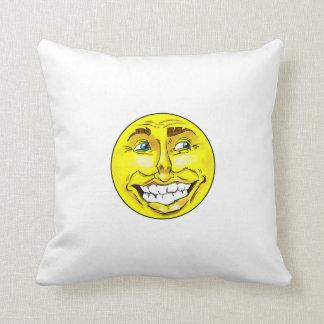 Coussin Sac de sable heureux réaliste à visage d'Emoji