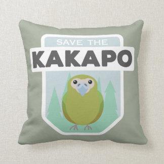Coussin Sauvez le carreau de maison de kakapo