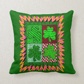 Coussin Shamrocks chanceux -