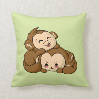 Coussin Singes idiots !