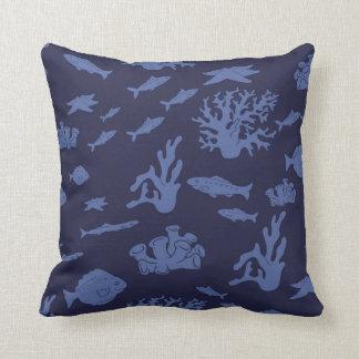 Coussin sous-marin de bébé (bleu-foncé)