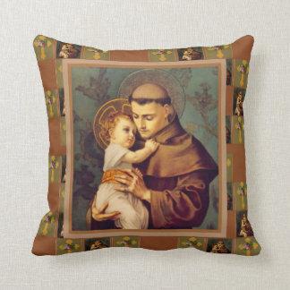 Coussin St Anthony de Padoue avec le bébé Jésus