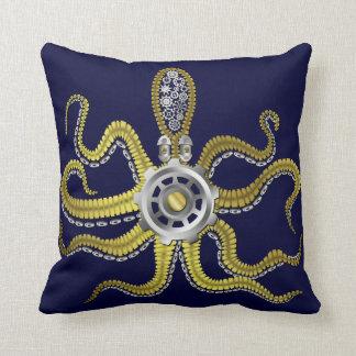 Coussin Steampunk embraye le poulpe Kraken