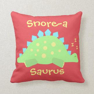 Coussin Stegosaurus somnolent de bébé de dinosaure