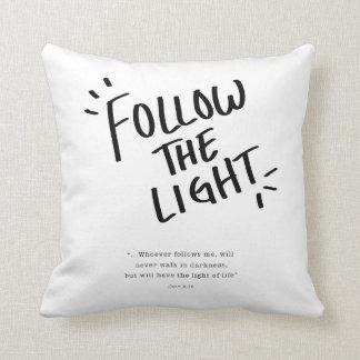 Coussin Suivez la lumière