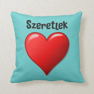 Coussin Szeretlek - je t'aime dans le Hongrois
