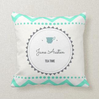 Coussin Temps de thé de Jane Austen