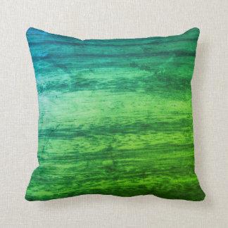 Coussin Texture en bois verte