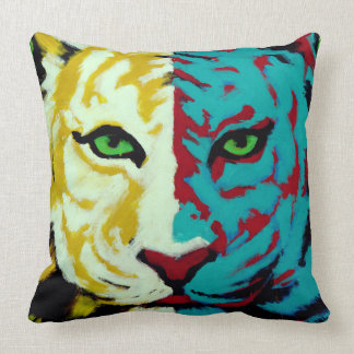 Coussin Tigre blanc