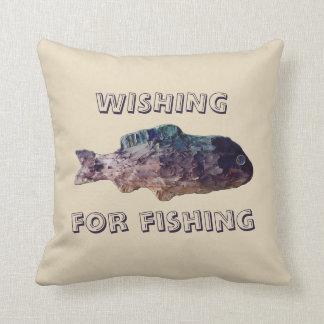 Coussin Tolopea souhaitant la pêche