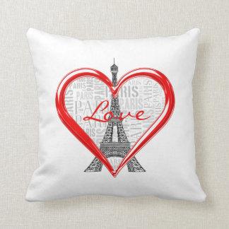 Coussin Tour Eiffel adorable de Paris   d'amour