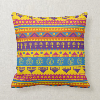 Coussin tribal mexicain de style