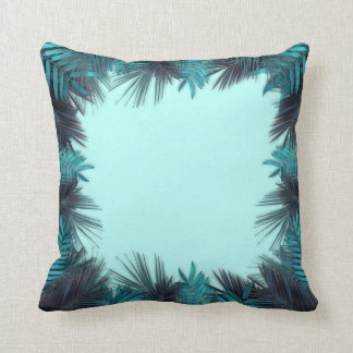 Teal Tropical Foliage palms turquoise