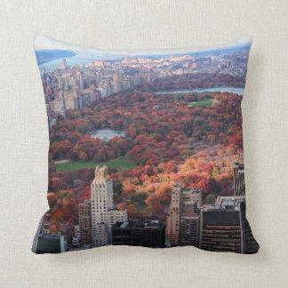 Coussin Une vue d'en haut : Automne dans le Central Park
