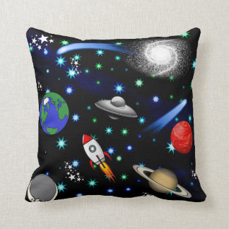 Coussin Univers de galaxie - planètes, étoiles, comètes,