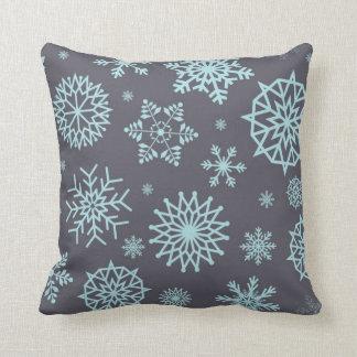 Coussin Vacances de Noël de flocon de neige d'hiver de