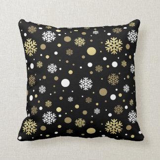 Coussin Vacances de Noël - motif de flocon de neige