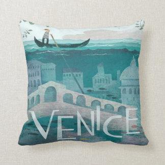 Coussin vacances de voyage de gondole de Venise Italie