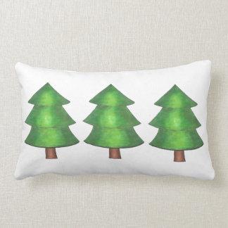 Coussin vert d'arbre de pins en bois extérieurs de