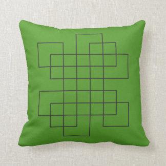 Coussin Vert de labyrinthe