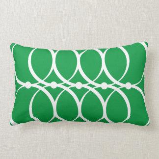Coussin vert de motif de cercle