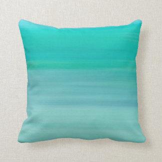 Coussin Vert en bon état un océan bleu-clair