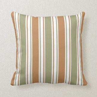 Coussin Vert moderne et rayure de Brown