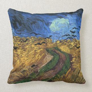 Coussin Vincent van Gogh-Wheatfield avec des corneilles