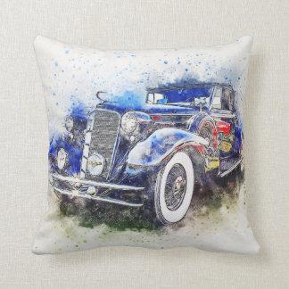 Coussin vintage bleu de voiture