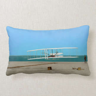 Coussin vintage de photo de jet de premier vol