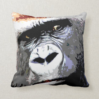 Coussin Visage de gorille d'art de bruit