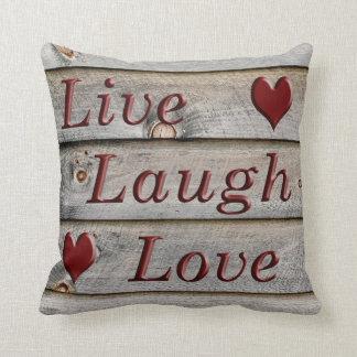 Coussin Vivent l'amour de rire du côté d'une grange