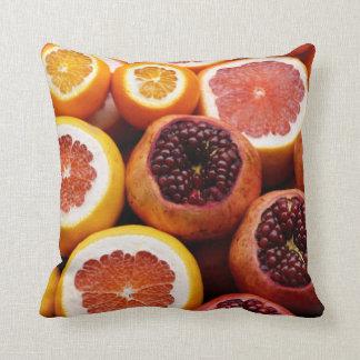 Coussin Vraiment carreau orange de décor d'agrume
