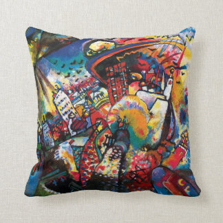 Coussin Wassily Kandinsky - art abstrait de paysage urbain