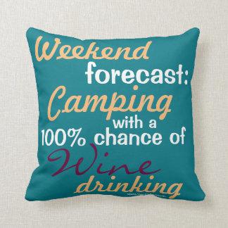 Coussin Week-end prévu : Camper/Glamping et vin