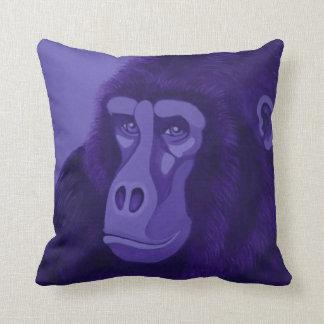 Coussin Zèbre magenta et carreau violet de gorille
