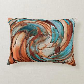 Coussins Décoratifs Carreau bleu d'art abstrait de la rouille N