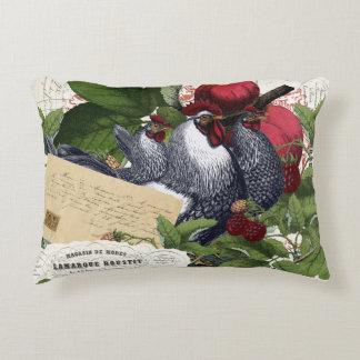 Coussins Décoratifs Collage français vintage de poulets de cuisine de