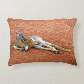 Coussins Décoratifs Mâle rouge de repos de kangourou