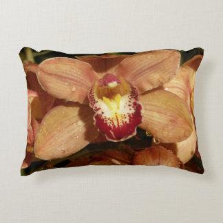 Coussins Décoratifs Orchidées de pêche avec beau floral de gouttes de