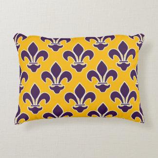Coussins Décoratifs Purple Fleurs de Lis sur l'or