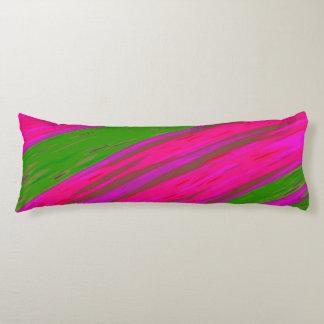 Coussins Longs Abrégé sur lumineux bruissement de couleur rose et