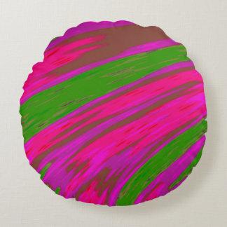 Coussins Ronds Abrégé sur lumineux bruissement de couleur rose et