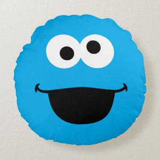 Coussins Ronds Art de visage de biscuit