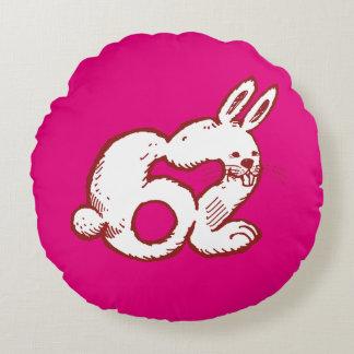 Coussins Ronds bande dessinée drôle du numéro 62 de lapin
